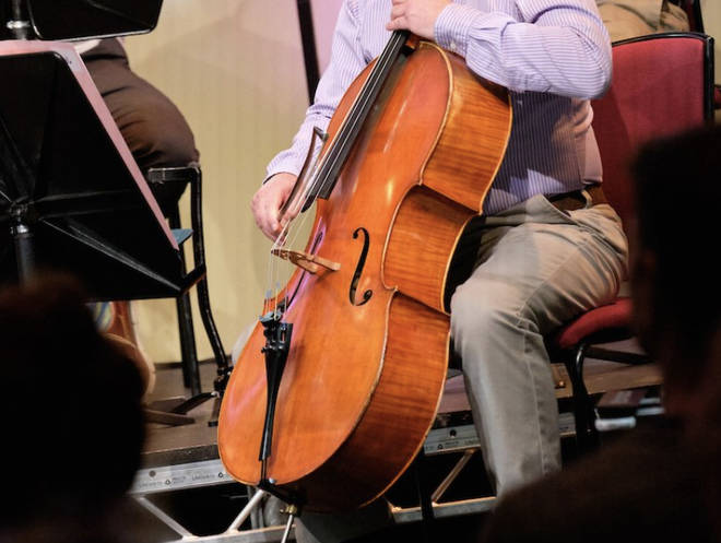 Gethyn's cello which was stolen from his car