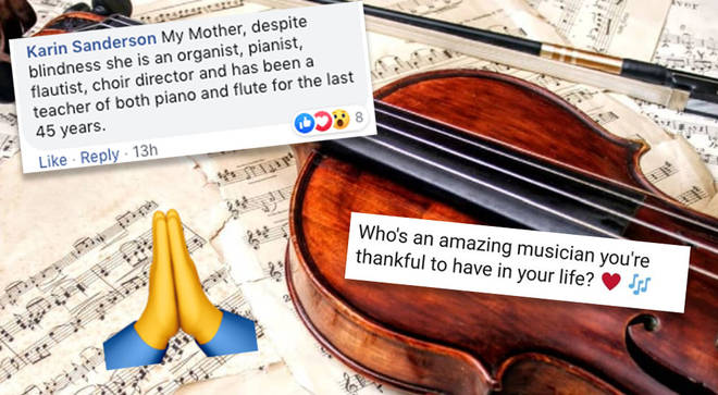 People give thanks for musicians in their life