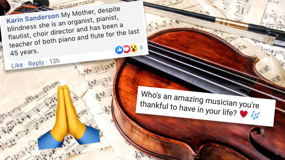 People are giving thanks for the amazing musicians in their lives, and it's exactly what you need today