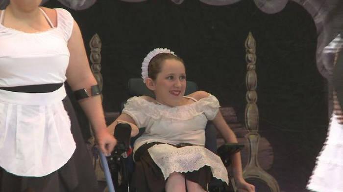 Teenage ballerina in wheelchair achieves dream of dancing in Tchaikovsky's Nutcracker